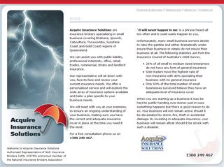 Acquire Insurance Solutions website