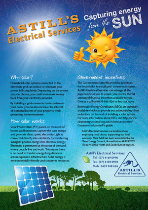 Astills Electrical Solar Power flyer