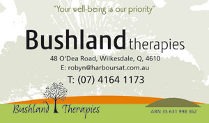 Bushland Therapies business card