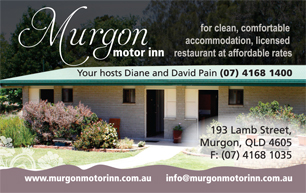 Murgon Motor Inn business card