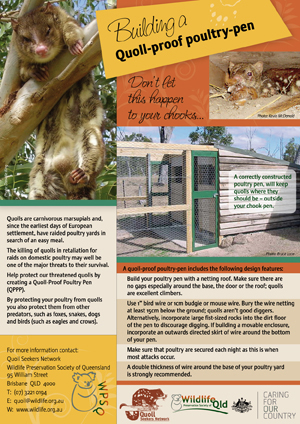 Quoll Proof Poultry Pen Fact Sheet