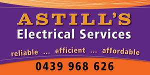 Astills Electrical road sign